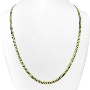 """Jewelry - 14k Gold Solid 3.5mm Curb Link Chain Necklace 24"""""""